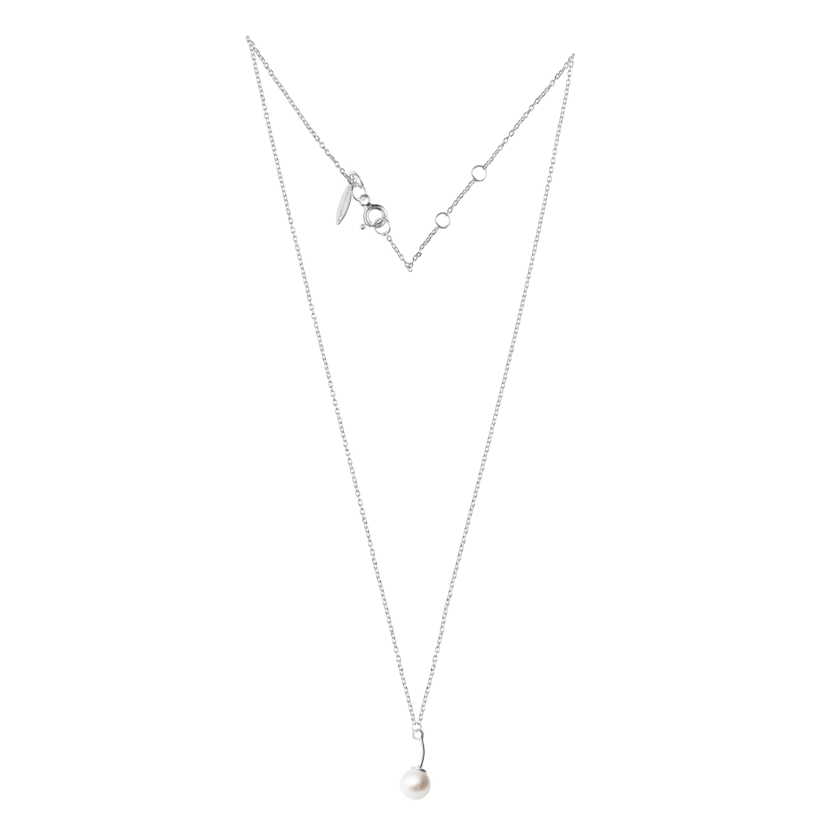 Le pearl single necklace