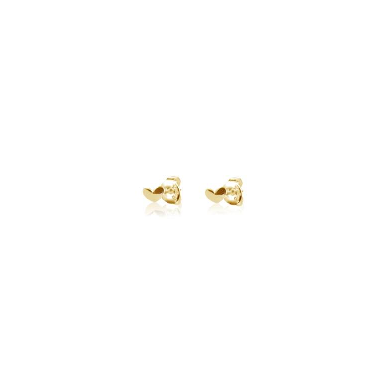 Loving heart drop studs gold