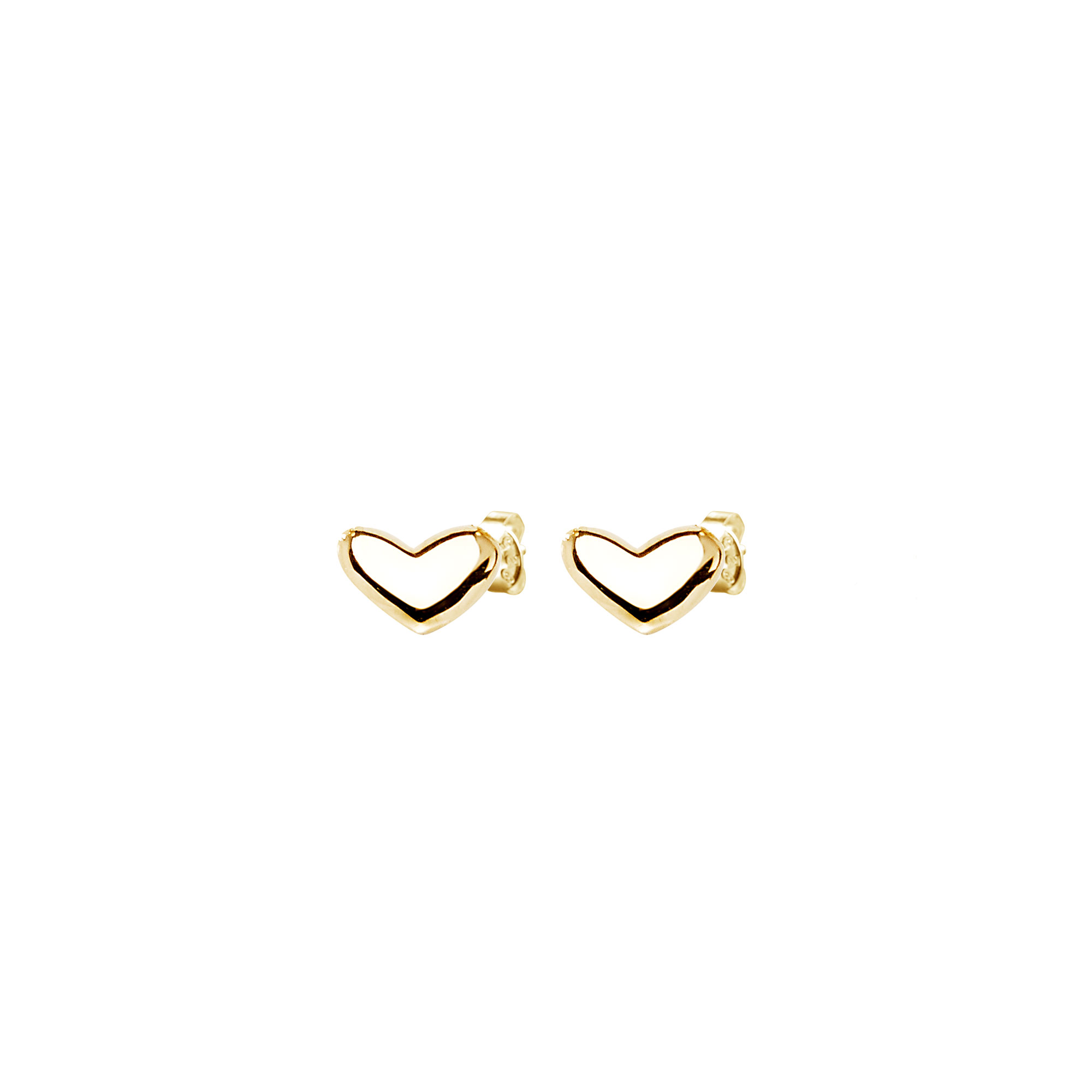 Loving heart medium studs gold