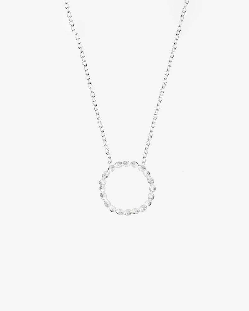 Halo single necklace big