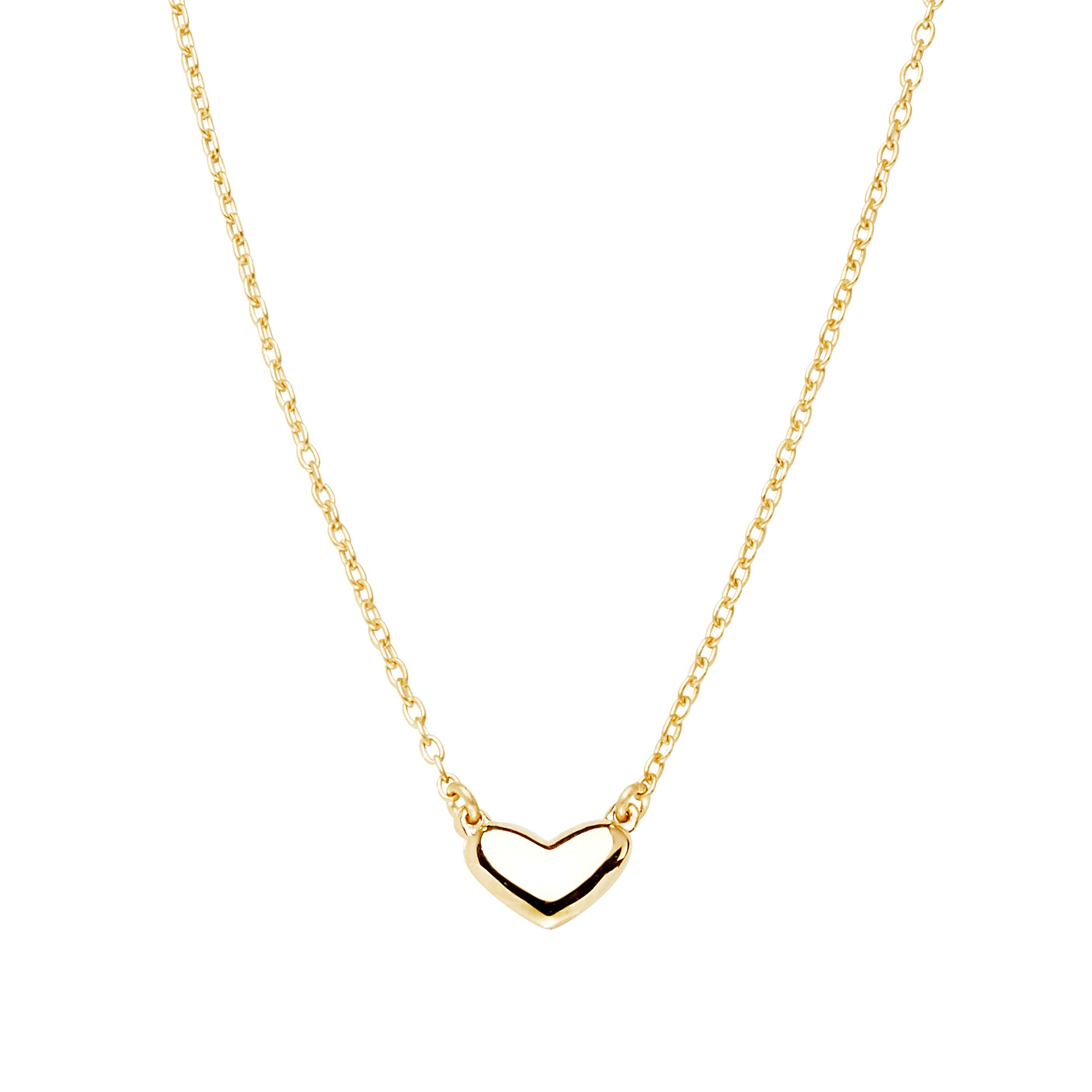 Loving heart medium single necklace gold