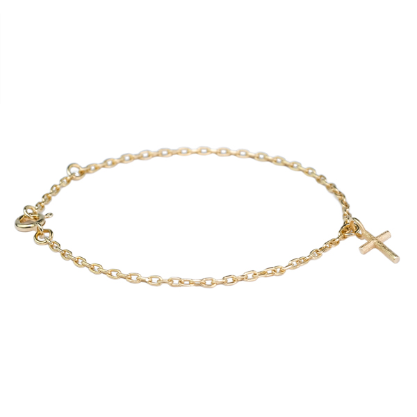 BRANCH CROSS BRACELET GOLD